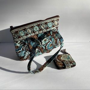 Vera Bradley Retired Java Blue Tote Bag & Wallet